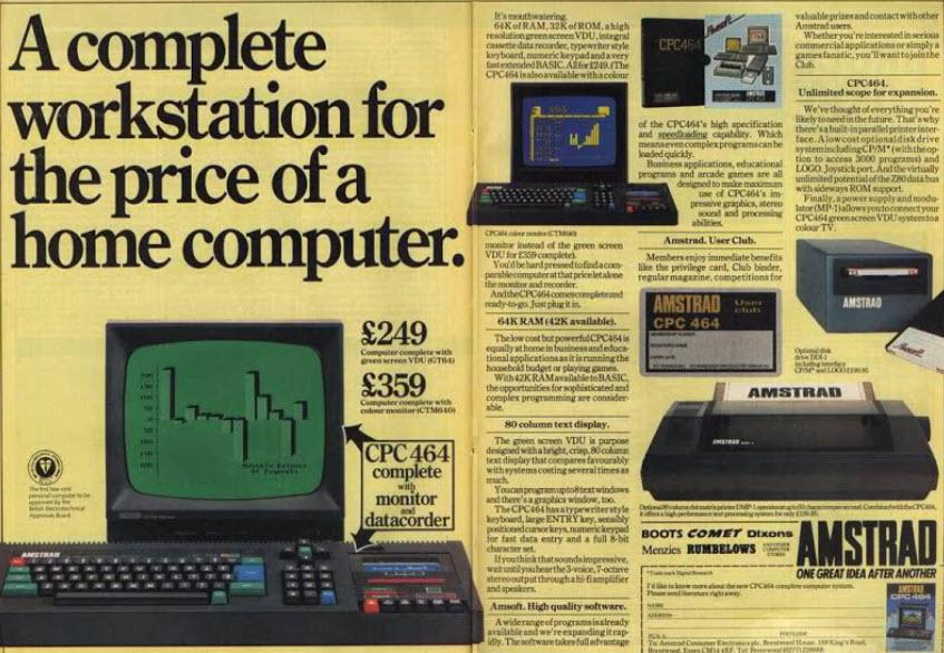 Amstrad's models
